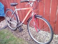 MENS CARRERA CROSSFIRE BIKE + MUDGUARDS, LIGHTS & LOCK/2 KEYS *FREE DELIVERY WITHIN HULL*