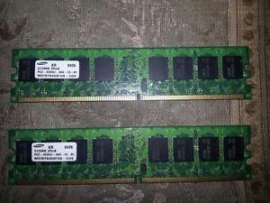 Samsung DDR2 512MB (512 x2) 1GB for pc
