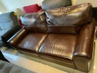 Brand New 3 Seater Brown Aniline Leather Sofa.