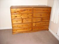 Double Pine Chest of Draws £110