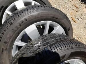 BRAND NEW RANGE ROVER EVOQUE HIGH PERFORMANCE GENERAL WINTER TIRES 245 / 65 / 17 ON AFTERMARKET ALLOY WHEELS.NO SENSORS
