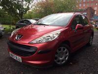 07 plate - Peugeot 207 - petrol - 49k low mileage - one year mot - clean car