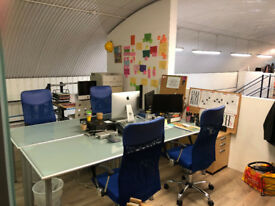 Cool creative office / studio space near Waterloo – own area approx 450 sq ft - enough for 6+ desks