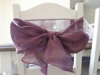120 wedding chair sashes £100