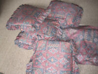 a pair of curtains & 4 cushions