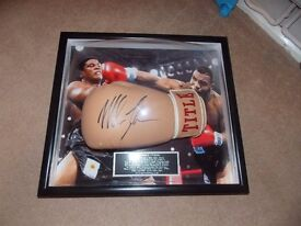 Mike Tyson Signed Bubble Framed Boxing Glove, Superb.
