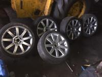 Set of Volkswagen alloys.
