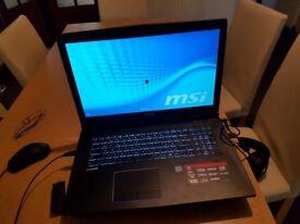 MSI gaming laptop 17 inch screen