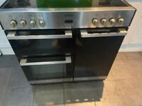 Belling silver and black electric cooker