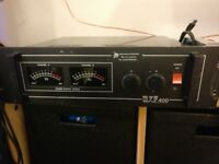 Complete PA - powerful MOSFET Amp (BK MXF400) and Prosound speakers