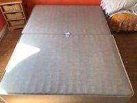 King size sprung Bed base with storage draws