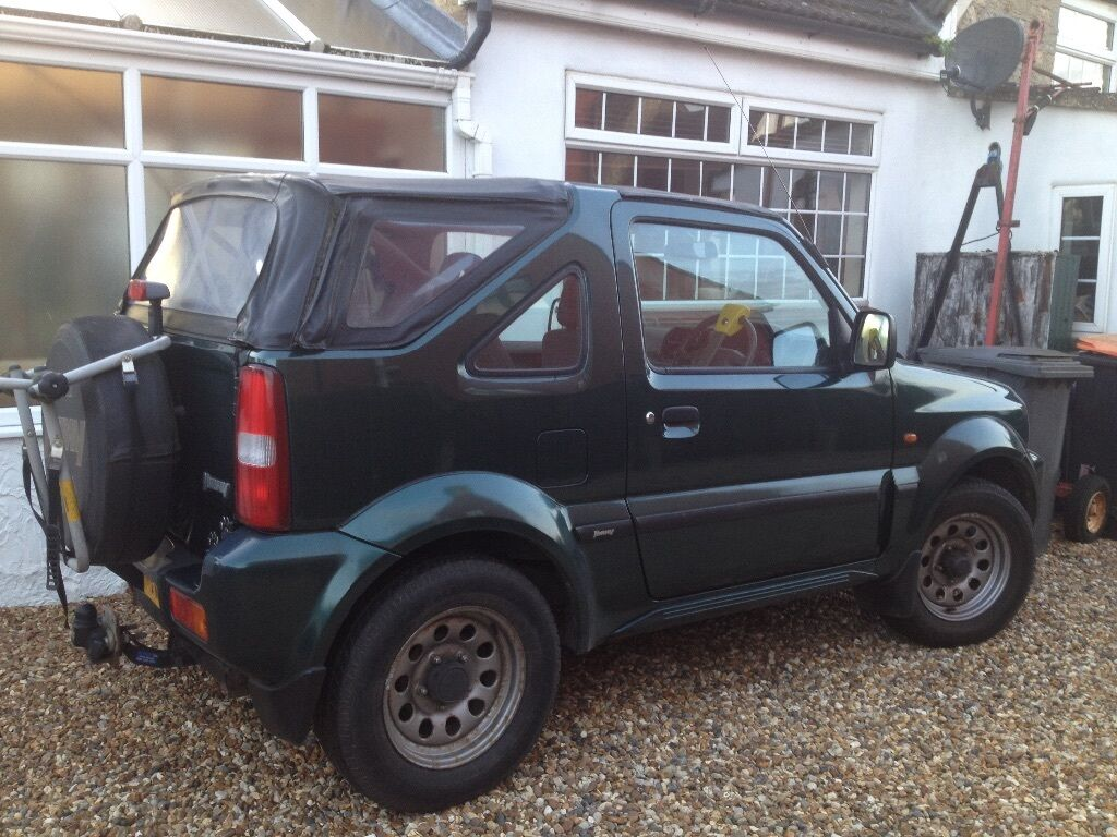 suzuki jimny 1 3 jlx soft top jeep and small trailer in. Black Bedroom Furniture Sets. Home Design Ideas