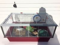 Ferplast large hamster cage, used, Criceti 15 model, with wheel, ball and other accessories