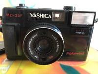 Vintage Yashica film motorwind camera