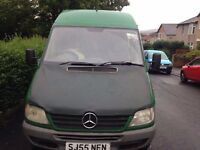 Mercedes Sprinter Long wheel base extended height 311CDi