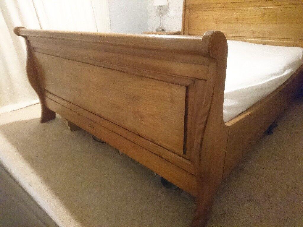 Free Kingsize Wooden Sleigh Bed Frame In Rochester Kent