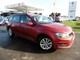VW Golf SE TDI BLUEMOTION TECHNOLOGY (red) 2014