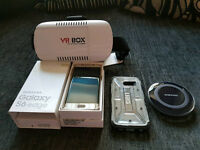 Boxed & Unlocked Samsung S6 Edge Gold - VR Headset, Wireless Charger & Other Accessories