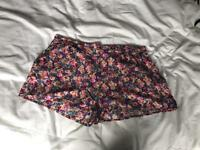New look floral shorts, size 18