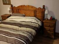 Solid pine king-size pine bed frame