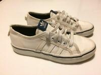 Adidas nizza white leather trainers size 3
