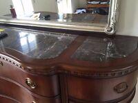 Marble Top Sideboard