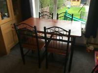 Free Dining table and 4 chairs