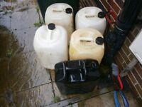 free water barrels 5 of them