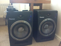 "Pioneer active speakers SDJ08 with 8"" sub woofer"