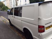 VW T5 84TDI SWB Insulated and carpeted with folding bed, Full service history, Great condition.