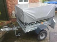 Daxara tipping trailer + extension kit/jockey wheel