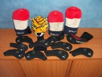 FOURTEEN GOLF CLUB HEAD COVERS