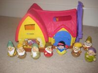 Fisher-Price Little People Disney Snow White's Cottage and Seven Dwarfs additional Set