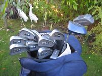 HIPPO LADIES RIGHT HAND GOLF CLUBS IN GOLF BAG