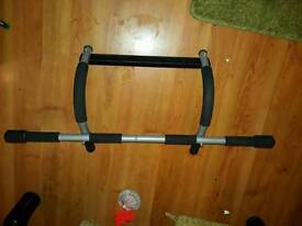 Pull up bar and curling bar