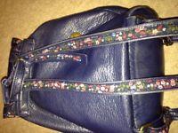 Navy blue Mantaray backpack bag