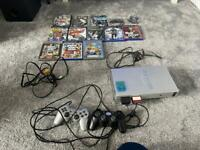Sony PS2 with Games Bundle & memory cards