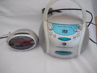RADIO ALARM AND A CD/RADIO PLAYER