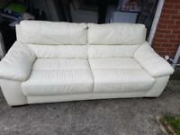 Leather 3 & 2 Setter Sofas