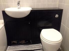sink with unit/ toilet with hidden cistern and unit