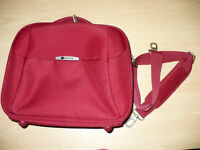 Red Delsey beauty case/bag compatible with travel system/trolley/luggage. Can be used as buggy bag.