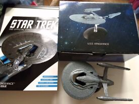 STAR TREK USS VENGEANCE SPECIAL EDITION MODEL WITH MAGAZINE AS NEW BOXED £18