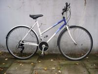 Ladies Hybrid/ Commuter bike by Raleigh, White & Purple, Rides Great!!JUST SERVICED / CHEAP PRICE!!!