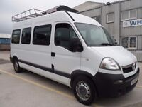 VAUXHALL MOVANO LWB MINIBUS 16 SEAT ONLY HAS 9 SEATS 2008 ONLY 72000 MILES