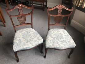Pair of antique bedroom chairs