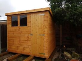 SOLID WELL BUT GREAT QUALITY PENT SHEDS PRICES INCLUDE DELIVERY AND FITTING