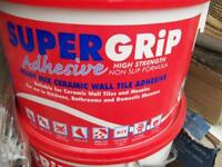 Tile Adhesive for wall tiles and floor tile grout (i have a few)
