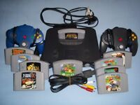 nintendo 64 console 2 official Controllers expansion pak & 10 games