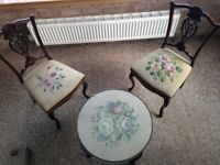 Edwardian chairs and table