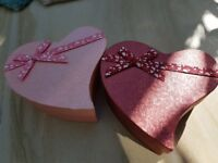 Beautiful heart-shaped gift/wedding favour boxes